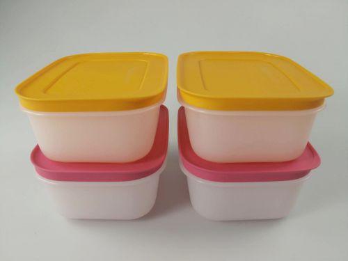 tupperware gefrier beh lter 450ml orange wei 2 pink wei 2 eis kristall ebay. Black Bedroom Furniture Sets. Home Design Ideas