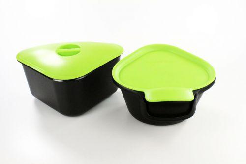 Tupperware Biomüll tupperware küchenhelfer tischmüll 3 5 l adretto 2 5 l schwarz grün