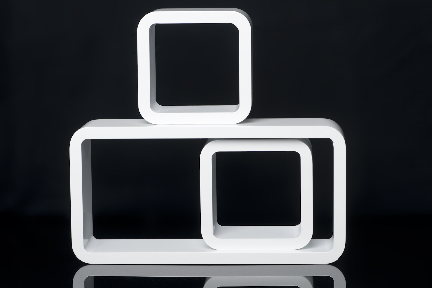 Regalset 3 teilig b cher cd wandregal cube retro regale for Regal cube