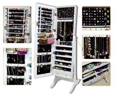 schmuckschrank spiegelschrank standspiegel schmuckkasten. Black Bedroom Furniture Sets. Home Design Ideas