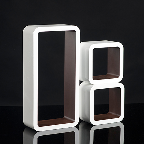 regalset 3 teilig b cher cd wandregal cube retro regale. Black Bedroom Furniture Sets. Home Design Ideas