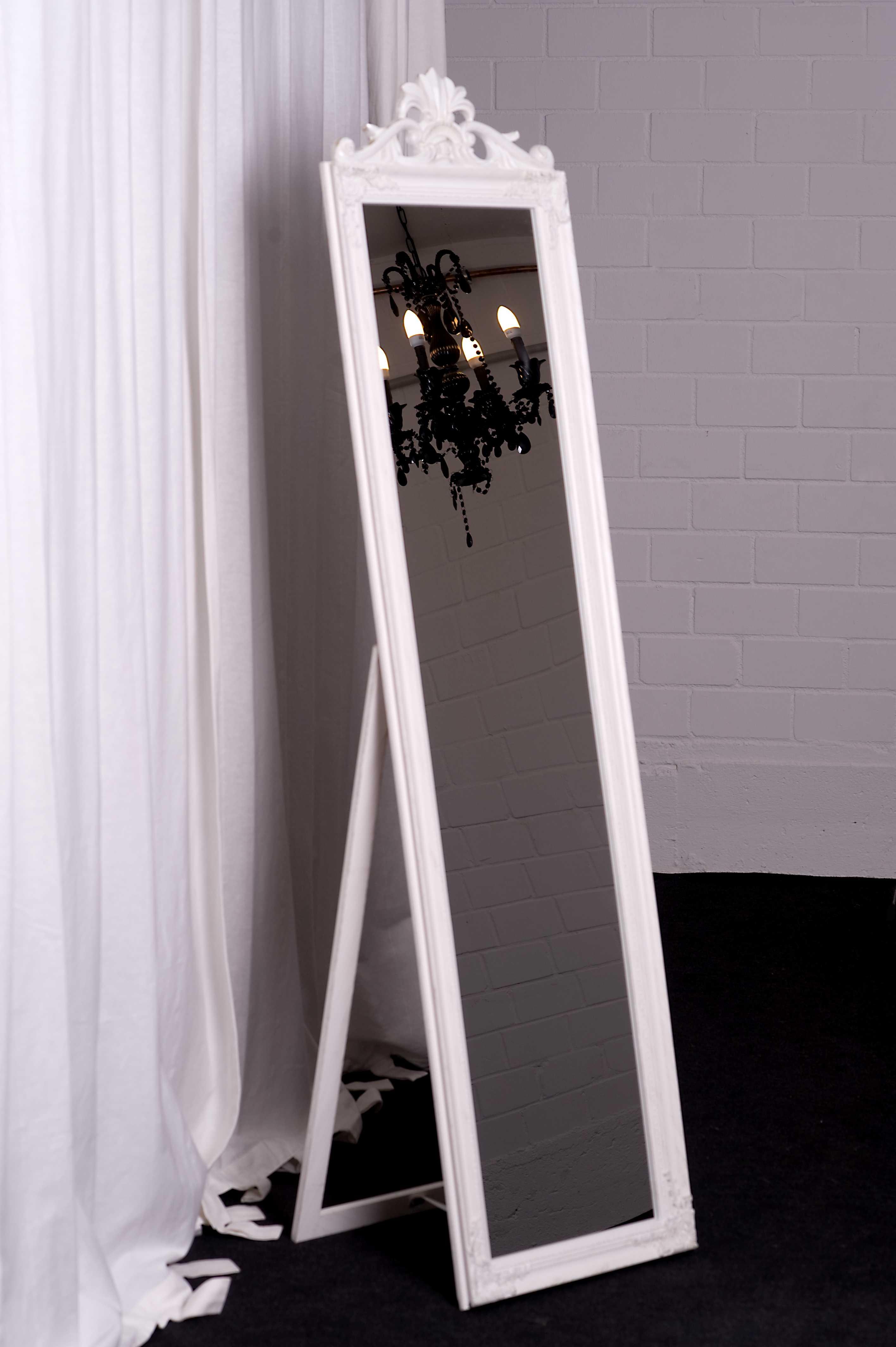 standspiegel 180 x 45 cm barock antik wandspiegel spiegel landhaus ebay. Black Bedroom Furniture Sets. Home Design Ideas