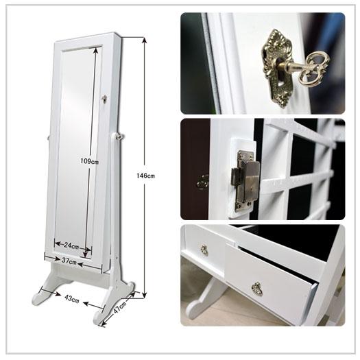 schmuckschrank spiegel spiegelschrank standspiegel schmuckkasten ohrringe kette ebay. Black Bedroom Furniture Sets. Home Design Ideas