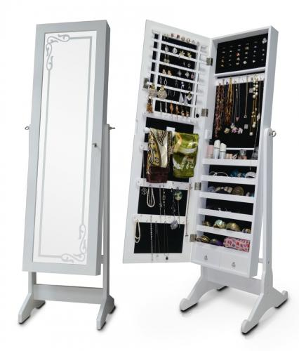 Armadietto portagioie specchio armadio a specchio specchio verticale cassetta per gioielli - Ikea portagioie ...