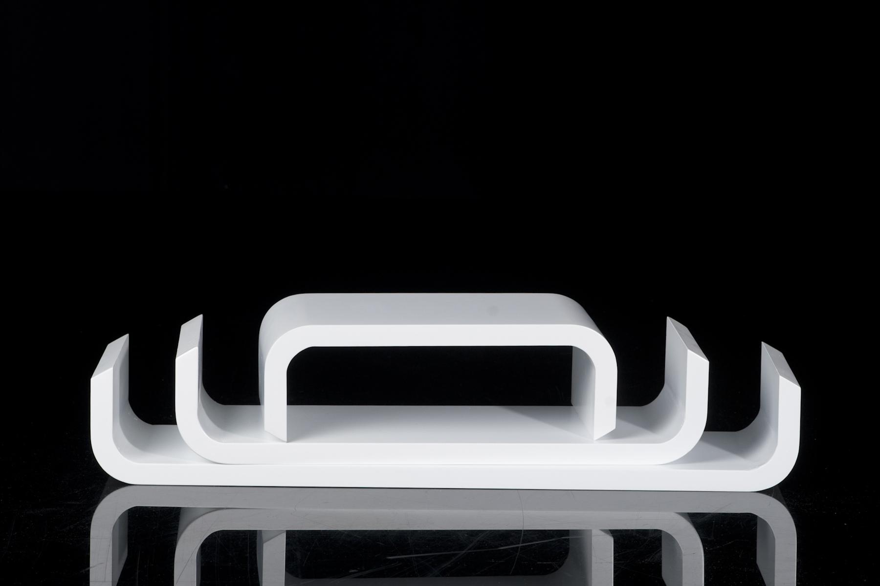 wandboard 3 tlg weiss design trend b cher wandregal cube. Black Bedroom Furniture Sets. Home Design Ideas