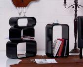 Cube Regalset 4 tlg Wandregal Raumteiler Würfel Retro Regale Lounge Wandboard
