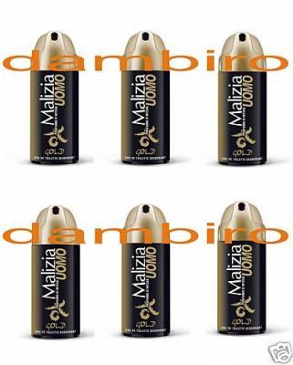 MALIZIA-UOMO-GOLD-deodorant-EdT-6x-150ml-sixpack-1-99-Euro-pro-100ml