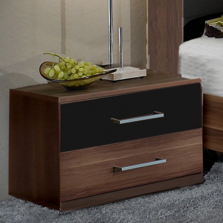 qool24 nachtschrank h240392b2 spanplatte nussbaum dekor. Black Bedroom Furniture Sets. Home Design Ideas