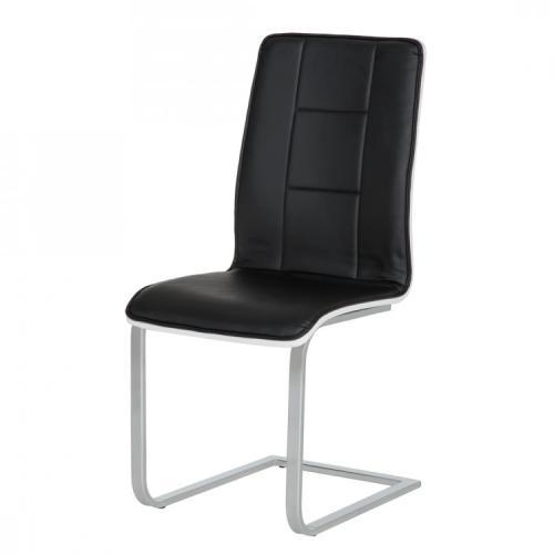 qool24 design schwingstuhl stuhl h240485 hochglanz schwarz