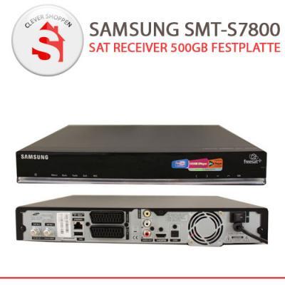 samsung smt s7800 full hd sat receiver 500gb festplatte. Black Bedroom Furniture Sets. Home Design Ideas