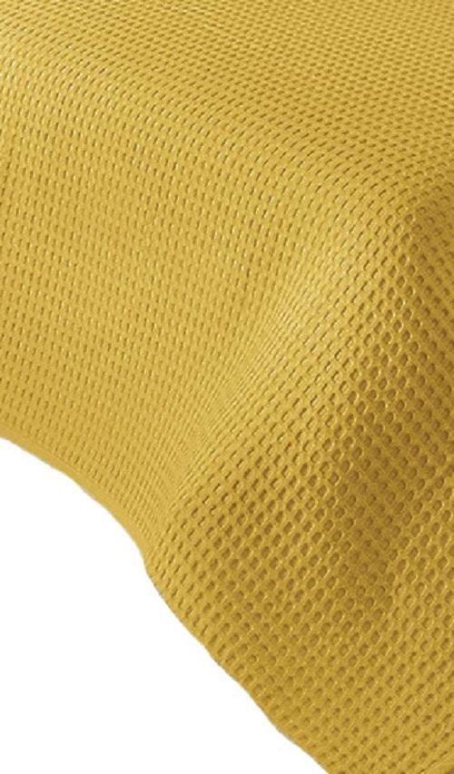 waffelpique 210 x 240 cm gelb sofa berwurf tagesdecke. Black Bedroom Furniture Sets. Home Design Ideas