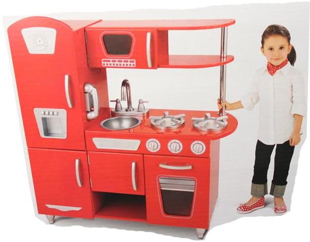 KidKraft Küche Retro Rot Spielküche Kinderküche Kinder aus Holz B ...