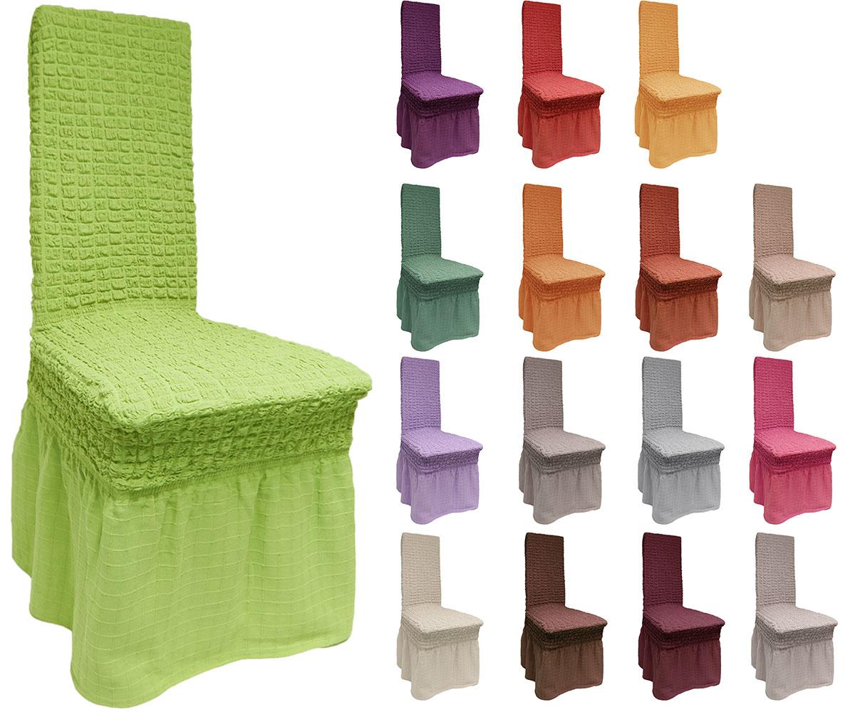 stuhlhussen 100 baumwolle stuhl husse stuhlbezug stuhlhusse lang universell ebay. Black Bedroom Furniture Sets. Home Design Ideas