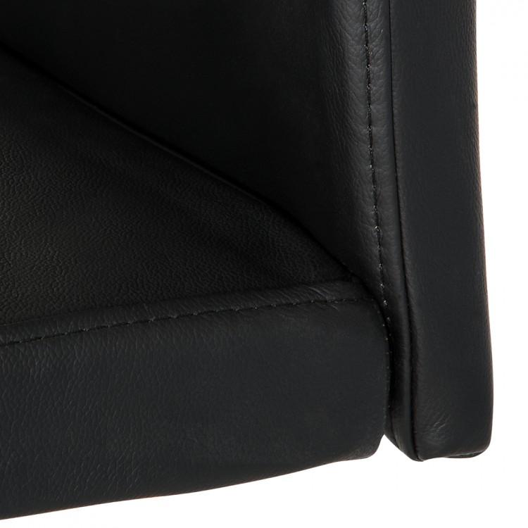 Qool24 moderner barhocker hocker h240208 echtleder echtes for Barhocker echtleder schwarz