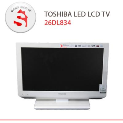 toshiba 26dl834 26 zoll led tv in weiss mit dvd player. Black Bedroom Furniture Sets. Home Design Ideas