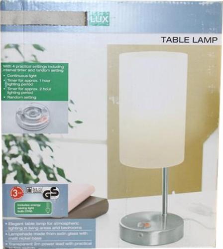 livarnolux tischleuchte lampe mit timer energiespar leuchte b ware ebay. Black Bedroom Furniture Sets. Home Design Ideas