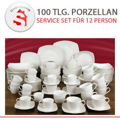 porzellan service set 100 teilig f r 12 personen sp mikrowelle geignet ebay. Black Bedroom Furniture Sets. Home Design Ideas