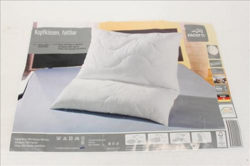 qool24 facotti kopfkissen kissen faltbar 80x80cm allergiker geeignet microfaser ebay. Black Bedroom Furniture Sets. Home Design Ideas