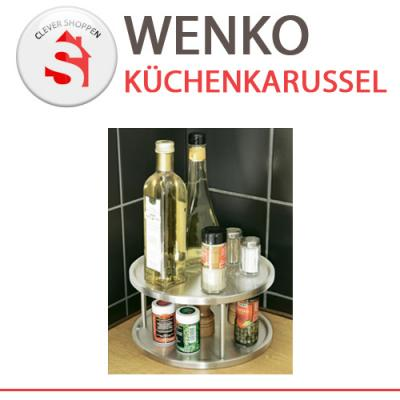 wenko k chenkarussell 2 etagen kuechen karussell drehbar b ware ebay. Black Bedroom Furniture Sets. Home Design Ideas