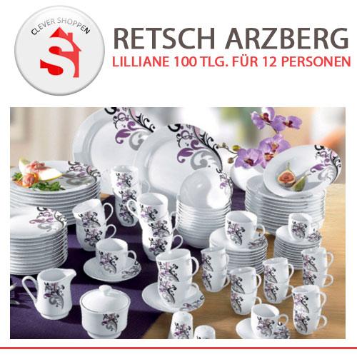 retsch arzberg lilliane 100 tlg porzellan service set f r 12 personen neu ebay. Black Bedroom Furniture Sets. Home Design Ideas
