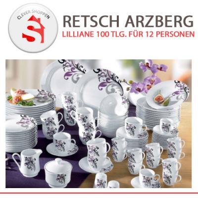 retsch arzberg lilliane 100 tlg porzellan service set f r. Black Bedroom Furniture Sets. Home Design Ideas
