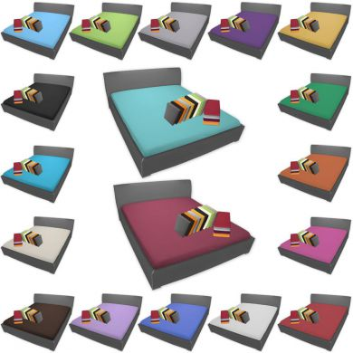 bettlaken 3 gr en 18 farben 100 baumwolle bett berwurf ohne gummizug ebay. Black Bedroom Furniture Sets. Home Design Ideas