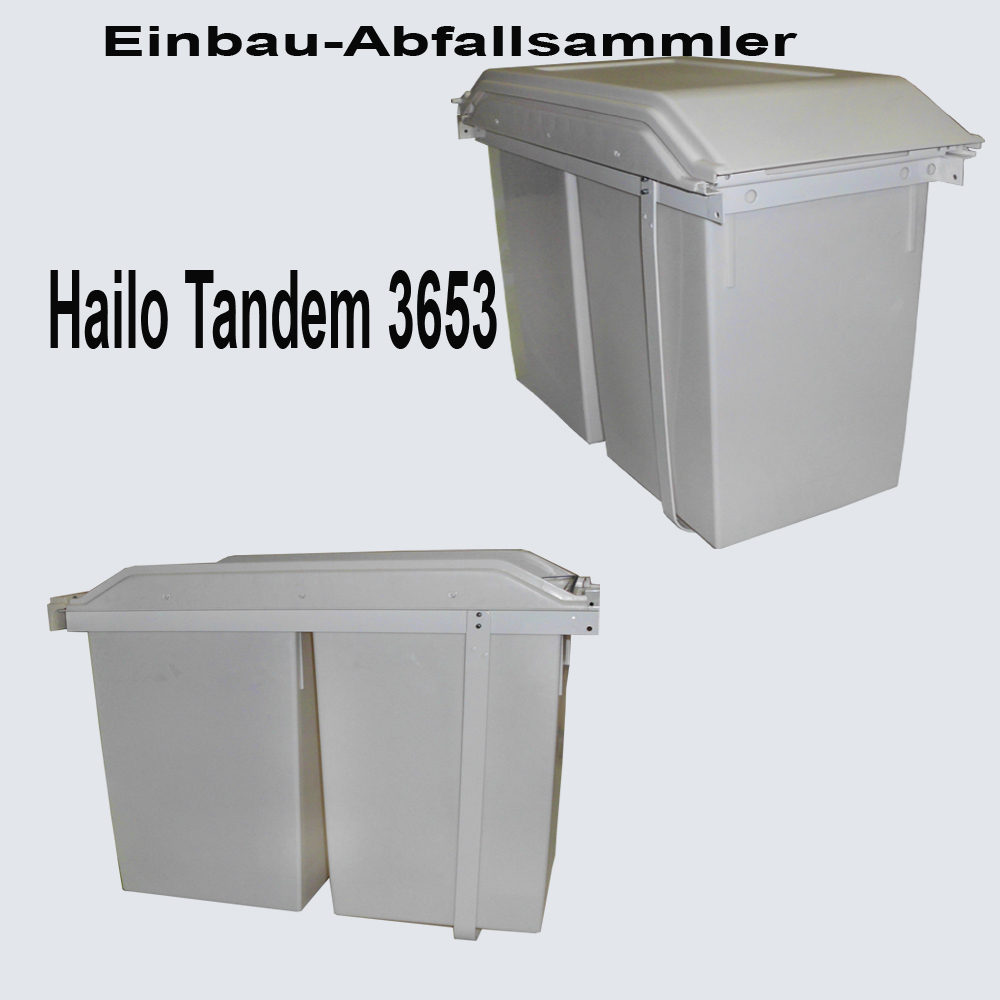 hailo tandem 3653 einbau abfallsammler ebay. Black Bedroom Furniture Sets. Home Design Ideas
