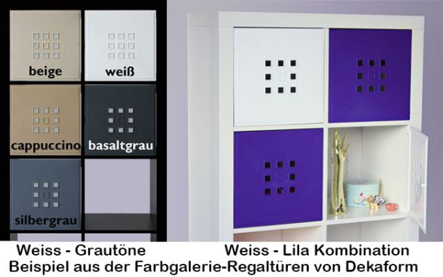 4erset t r einsatz ikea regal expedit kallax norn s flexi mit w rfel xxxl gr n ebay. Black Bedroom Furniture Sets. Home Design Ideas