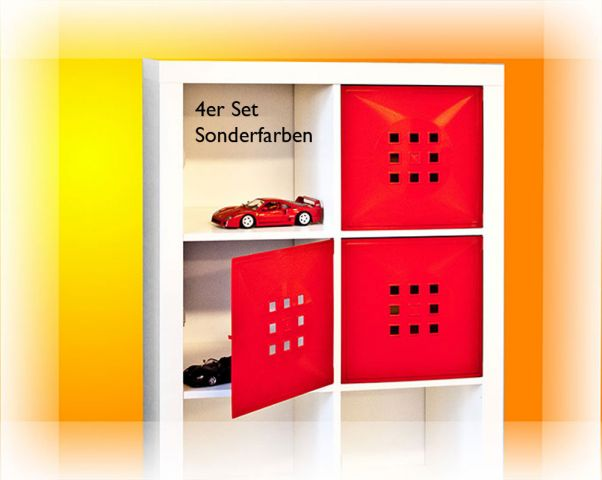 4er s t r einsatz ikea regal expedit kallax facheinsatz flexi w rfel ferrari rot ebay. Black Bedroom Furniture Sets. Home Design Ideas