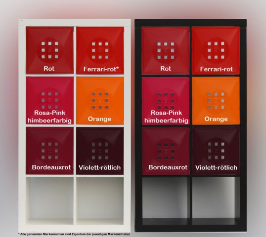 4er s t r einsatz ikea regal expedit kallax facheinsatz flexi w rfel ferrari rot 4260202072793. Black Bedroom Furniture Sets. Home Design Ideas