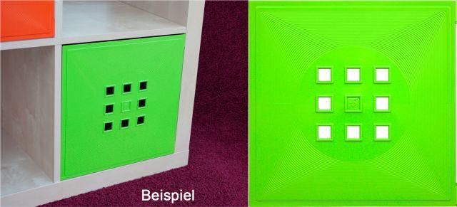 t r einsatz ikea regal expedit kallax facheinsatz flexi mit w rfel hellgr n ebay. Black Bedroom Furniture Sets. Home Design Ideas