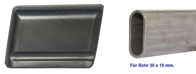 Kunststoff Gleiter Gleitkappe Fusskappe Moebelgleiter Ovalrohr 40x20