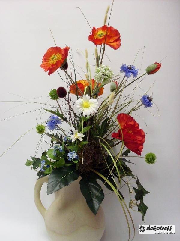 strau f r bodenvase mit wiesenblumen kunstblumen seidenblumen handarbeit ebay. Black Bedroom Furniture Sets. Home Design Ideas