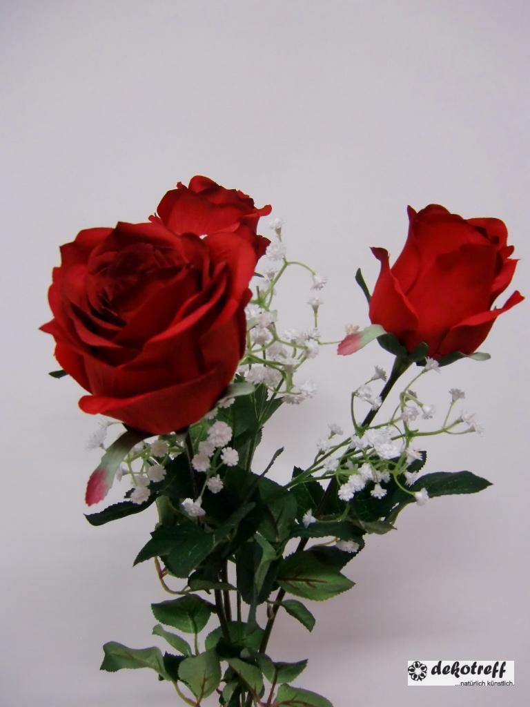 k nstliche rose rosenknospe rot bordeaux 55cm kunstblumen seidenblumen ebay. Black Bedroom Furniture Sets. Home Design Ideas