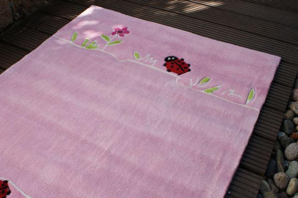 Kinderteppich blumenwiese  Kinderteppich BLUMENWIESE rosa 135x190cm SONDERPREIS | eBay