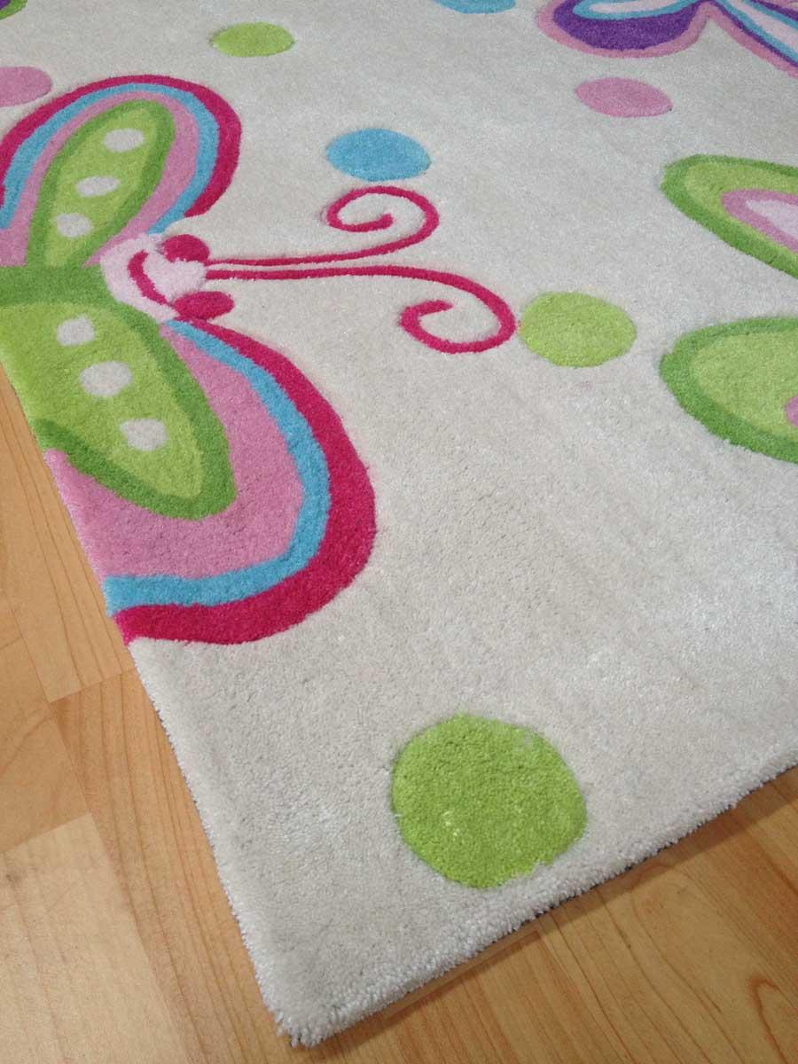 Kinderteppich schmetterling  Kinderteppich SCHMETTERLING pastell 135x190cm