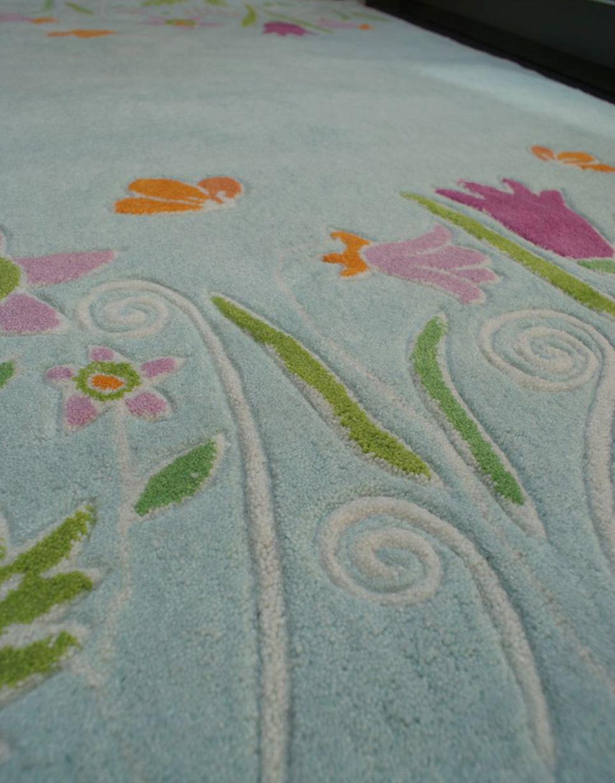 Kinderteppich blumenwiese  Kinderteppich FUNNY BLUMENWIESE mint 135x190cm | eBay
