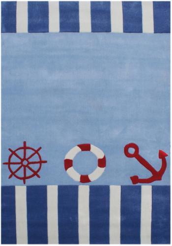 Kinderteppich blau  Kinderteppich AUF HOHER SEE 4 blau 135x190cm | eBay