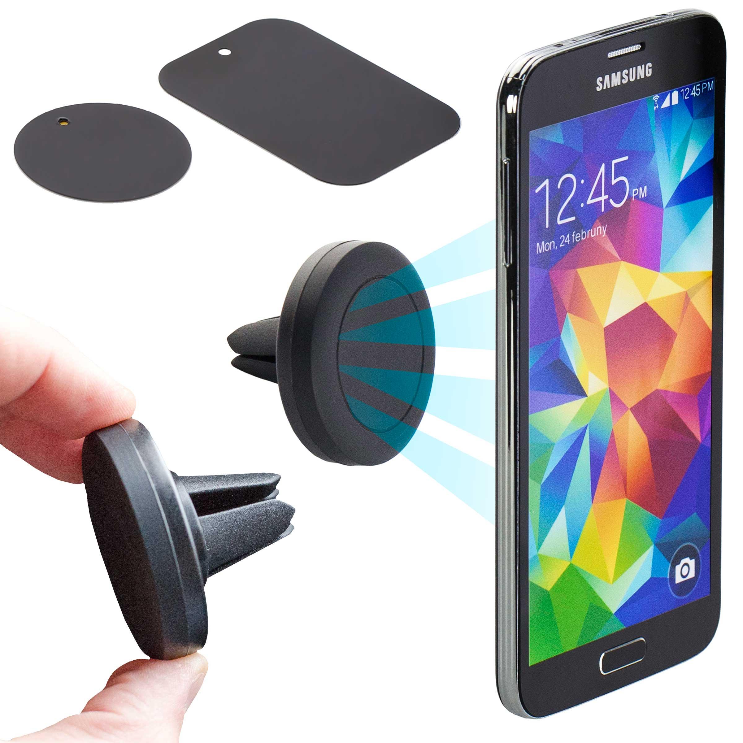 2x kfz l fter magnet halterung l ftung auto halter for Minimalistisches smartphone