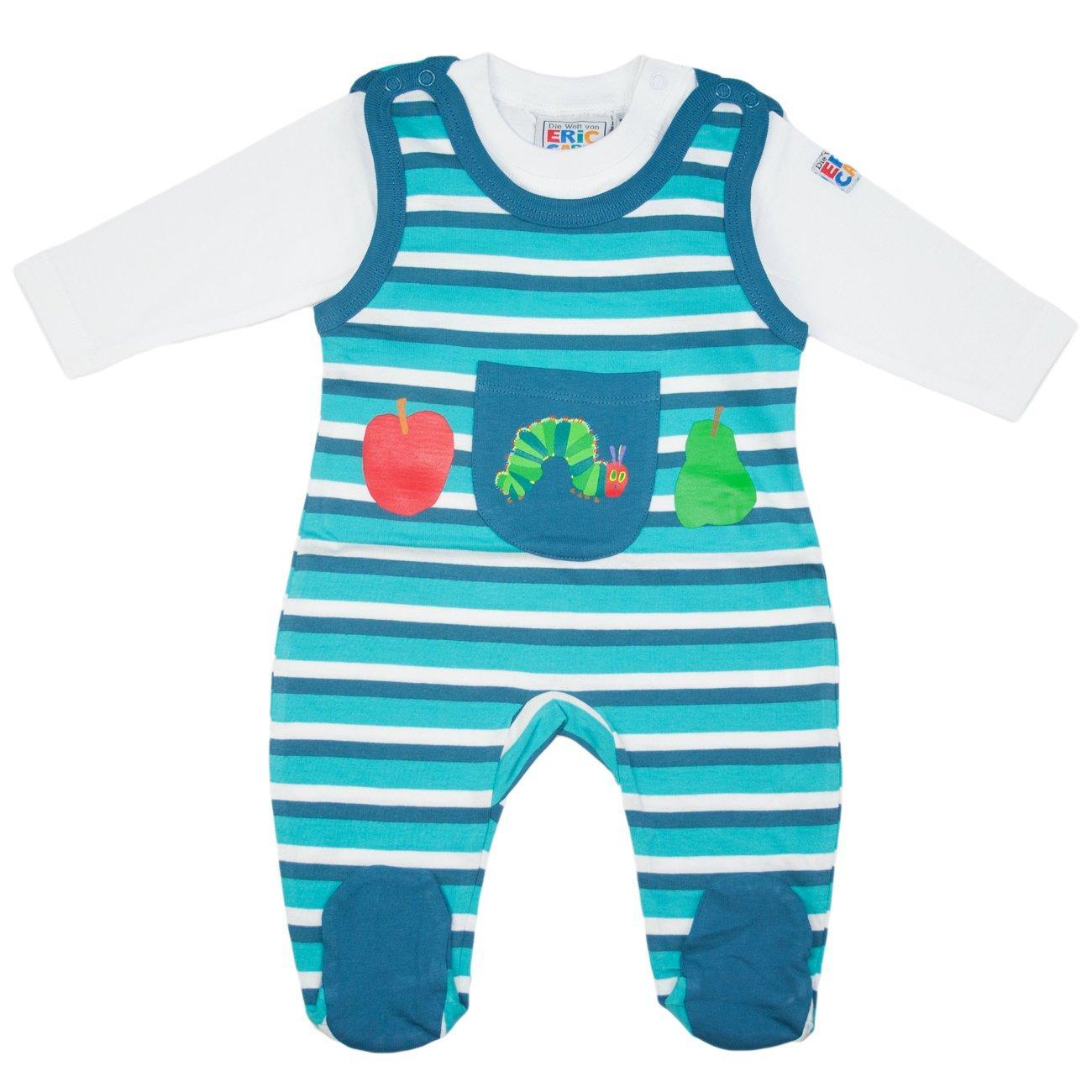 baby strampler set die kleine raupe nimmersatt gr e 50 56 blau pink gr n ebay. Black Bedroom Furniture Sets. Home Design Ideas