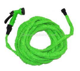Flexibler Wasserschlauch 30m, grün, zusammenfaltbar, platzsparend, magisch, stab