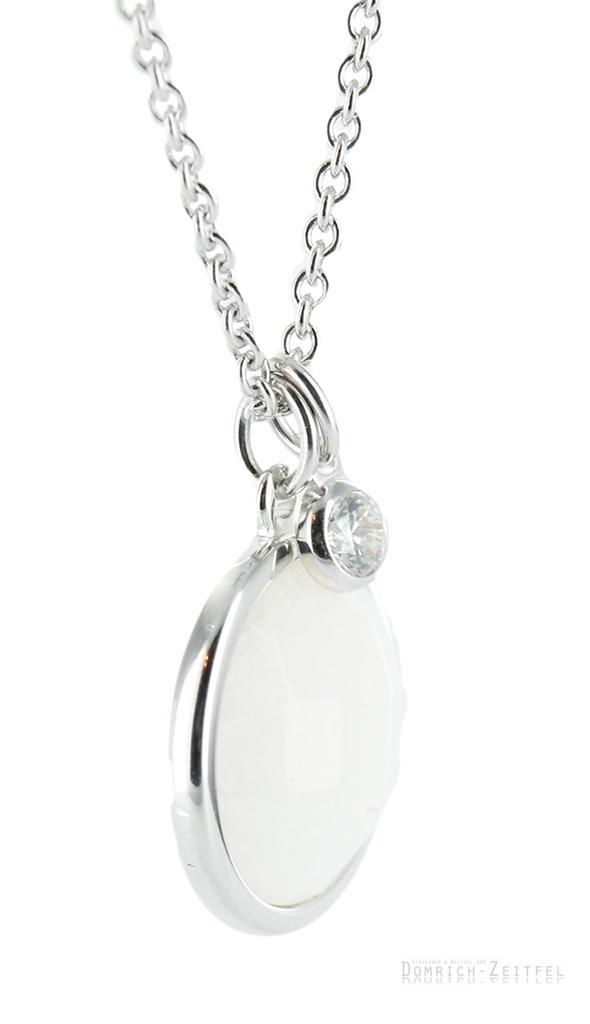 fossil damen halskette jf18048 wei er marmor 925 silber collier neu uvp 69 00eur ebay. Black Bedroom Furniture Sets. Home Design Ideas