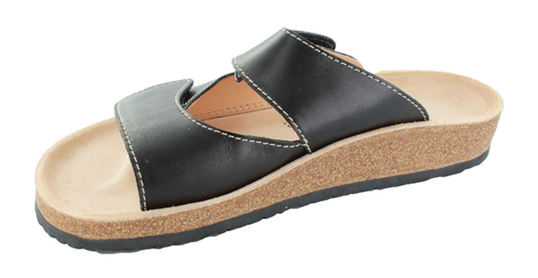 stegmann hausschuhe gr 37 schwarz korksohle damen sandalen uvp 64 90 eur neu ebay. Black Bedroom Furniture Sets. Home Design Ideas