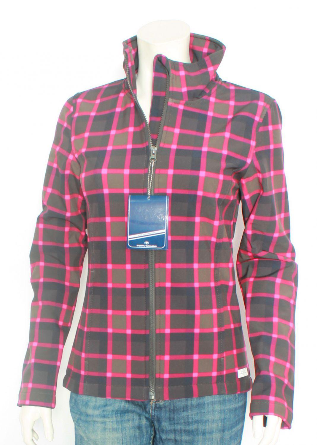 tom tailor softshelljacke kariert pink schwarz gr 176. Black Bedroom Furniture Sets. Home Design Ideas
