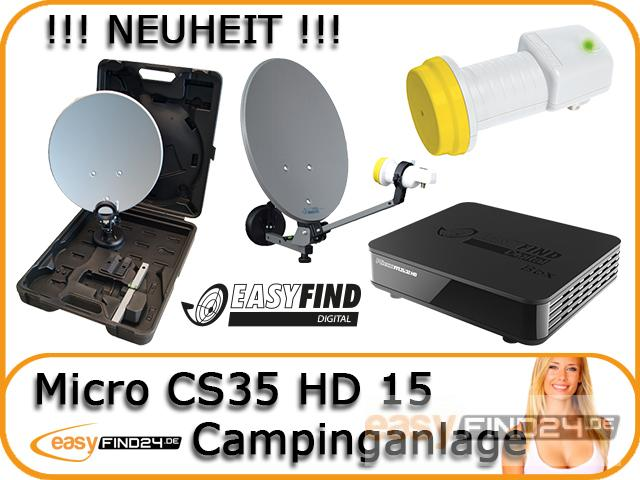 hdtv camping sat anlage campingkoffer micro cs35 hd 15. Black Bedroom Furniture Sets. Home Design Ideas