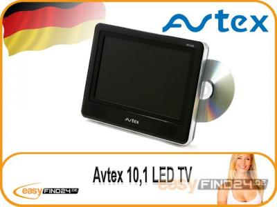 avtex w103d 10 fernseher led tv dvd camping 12 volt 24. Black Bedroom Furniture Sets. Home Design Ideas