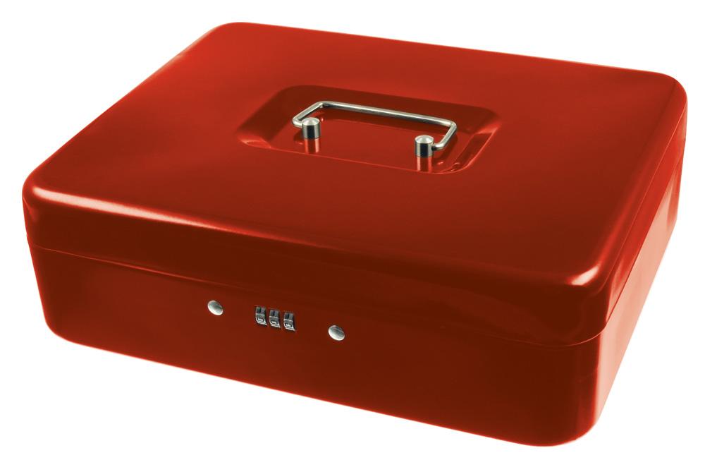 geldkassette mit zahlenschloss rot 300 x 240 x 90 mm ebay. Black Bedroom Furniture Sets. Home Design Ideas