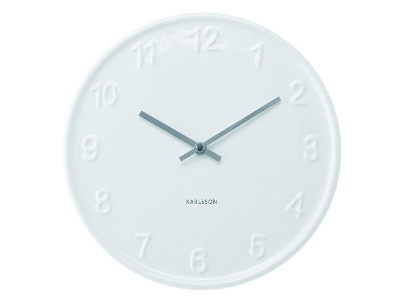 Karlsson KA5084 Wanduhr Keramik- Numbers-weiß-Küchenuhr