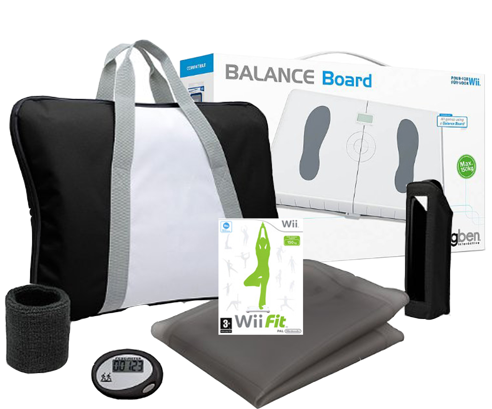 wii fit balance board white wii fit game training pack assorted colours. Black Bedroom Furniture Sets. Home Design Ideas
