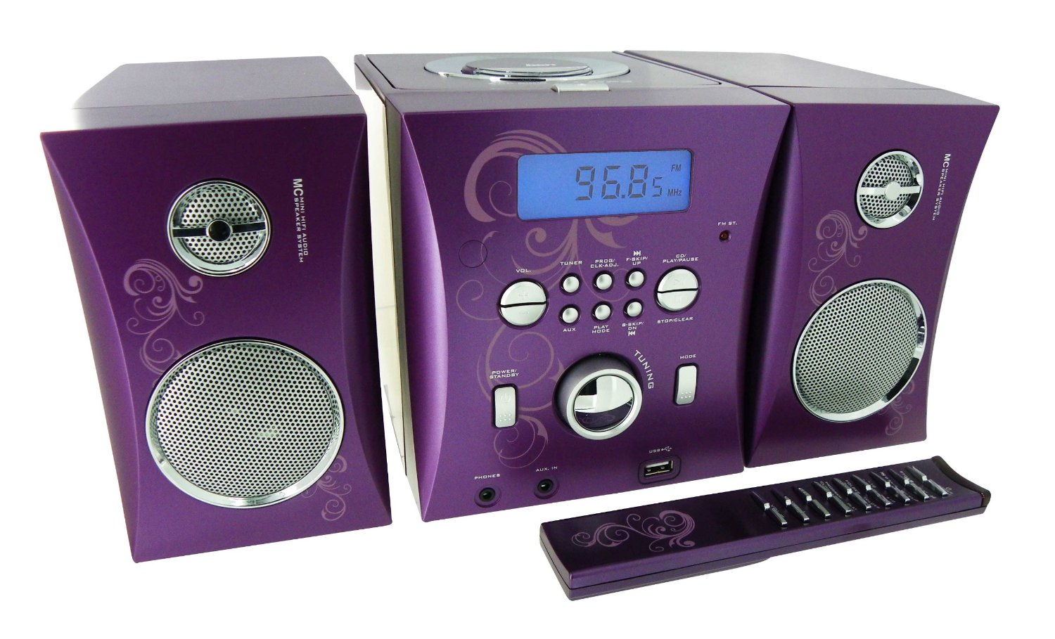 bigben stereo music micro system center cd player lila ebay. Black Bedroom Furniture Sets. Home Design Ideas